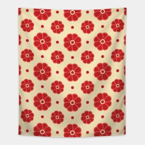 Pretty Simple Flowers Tapestries Teepublic