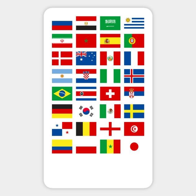 b9d16e75e Russia 2018 World Football Cup T Shirt - All 32 Teams Gift Tee Women Men  Sticker