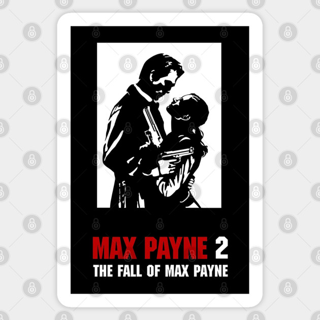Max Payne 2 Cover Artwork Max Payne Sticker Teepublic