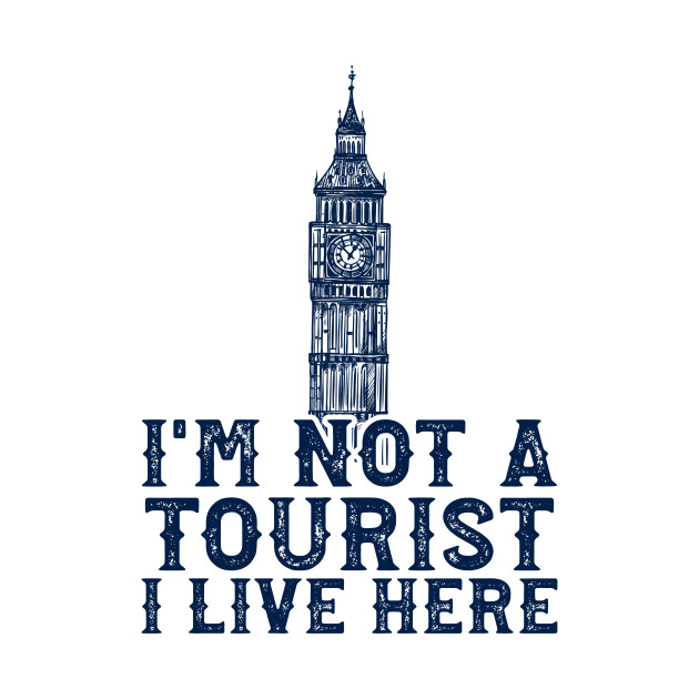 Funny Tourism Travel Blue Clock Tower London
