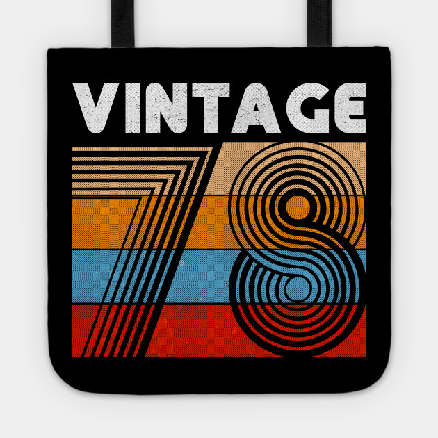 40th Birthday Gift Vintage 1978 For 40 Years Old Men Women Tote