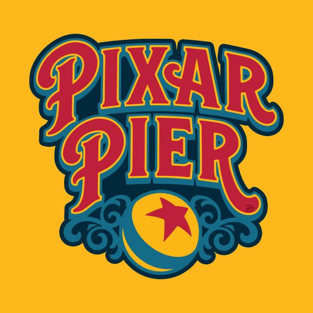 Pixar Pier Primary Disneyland T Shirt Teepublic