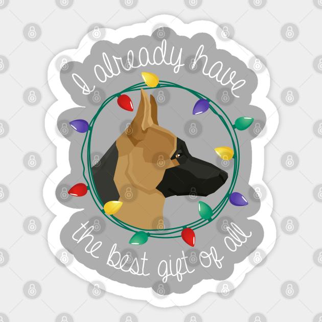 German Shepherd Sticker Cute Gift for Cute Dog Lovers
