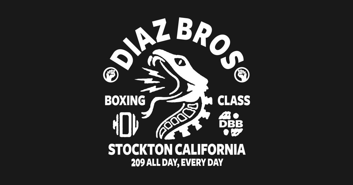 Diaz bros ufc nate diaz t shirt teepublic for Shirt printing stockton ca
