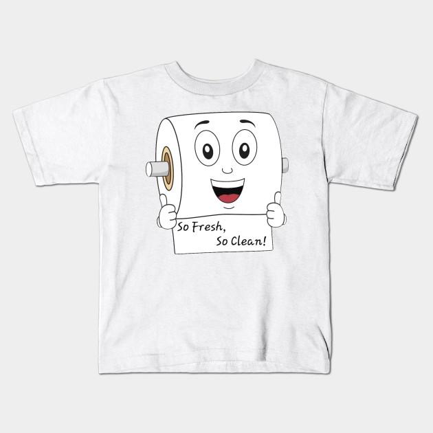 5da430b4 Funny Toilet Paper Roll T-Shirt - Toilet Paper - Kids T-Shirt ...