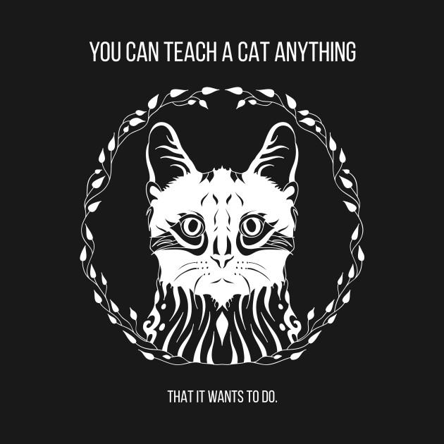 you can teach a cat anything - that it wants to do