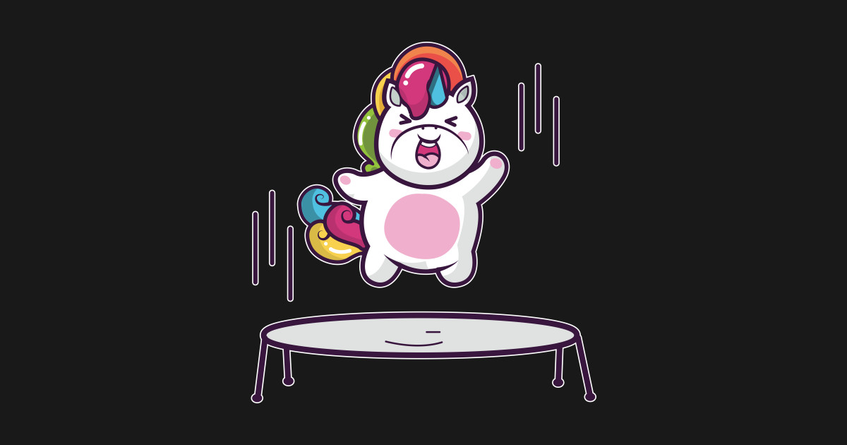Unicorn Trampoline Unicorn T Shirt Teepublic