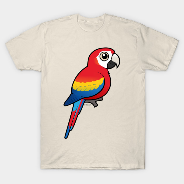 Birdorable Scarlet Macaw - Macaw - T-Shirt  a8e6f913c
