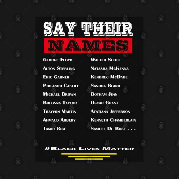 Black Live Matter 5 - Say Their Names - black