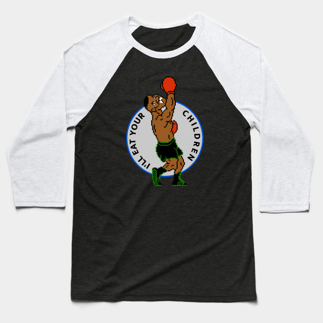 Kid Dynamite will eat your children Baseball T-Shirt