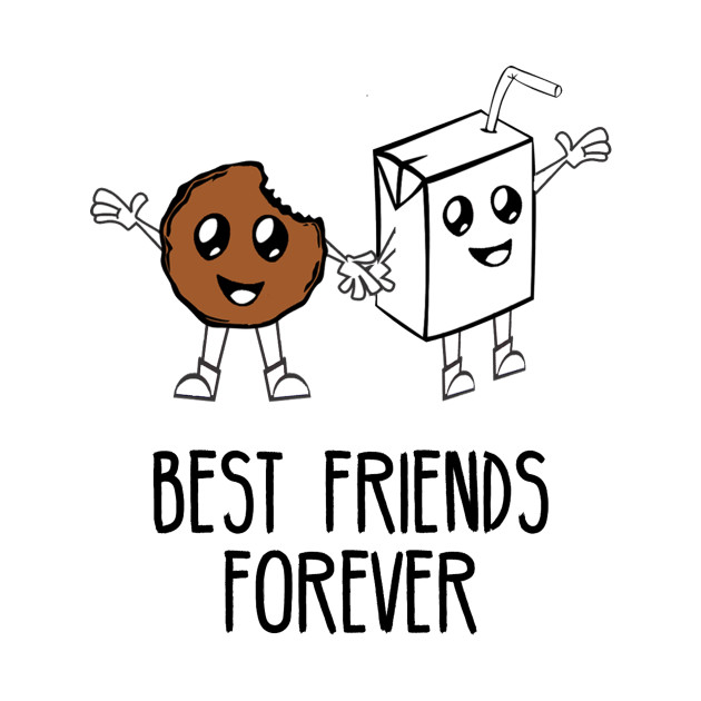 milk and cookies best friends forever  cute perfect match