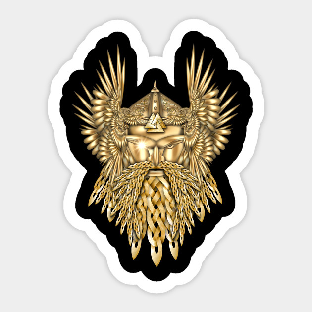 Odin Norse God Of War Viking Sticker Teepublic