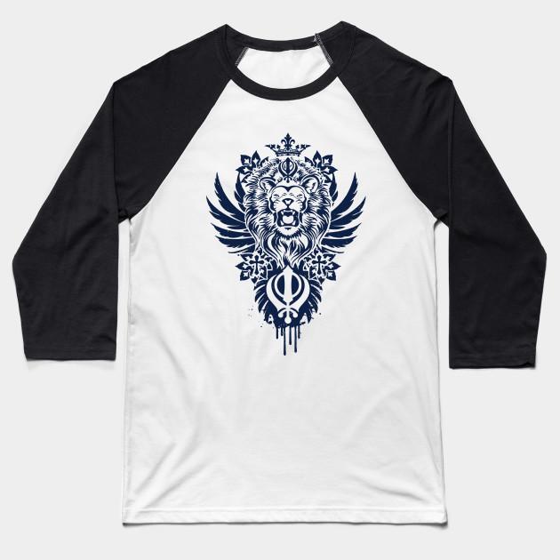 eb023b7c Khanda Lion - Lion - Baseball T-Shirt | TeePublic