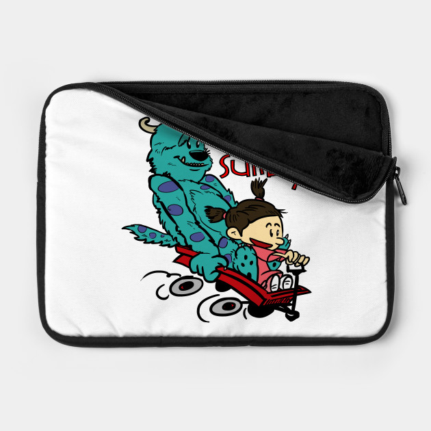 d074dff77 Boo and Sulley as Calvin and Hobbes - Monsters Inc - Laptop Case ...