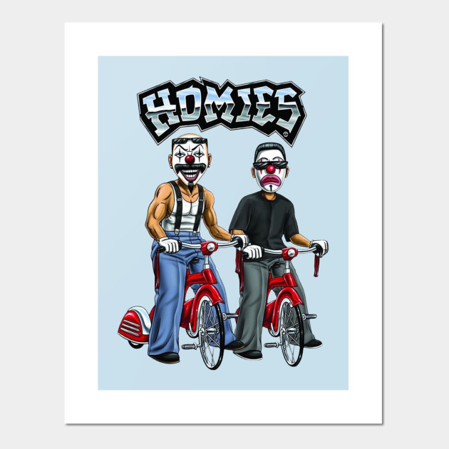 payaso homies anime face posters and art prints teepublic