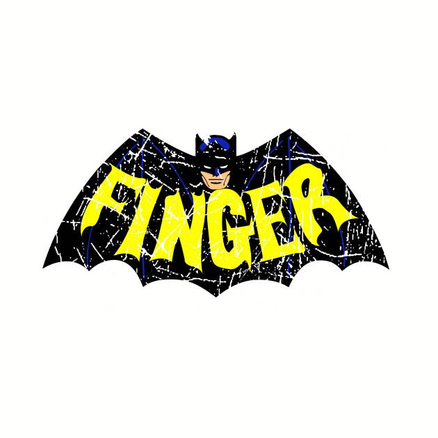 Finger Bat Logo Distressed