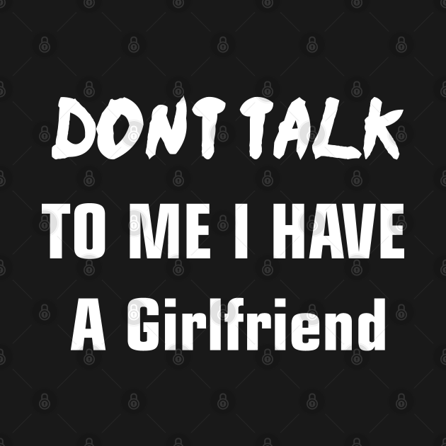 Don't Talk To Me I Have A Girlfriend