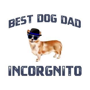 2e7e56e9b674 Best Dog Dad Incorgnito Retro Vintage Gifts T-Shirt