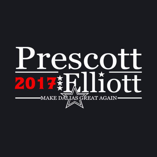 Prescott Elliott 2017 Make Dallas Great Again T-Shirt T-Shirt