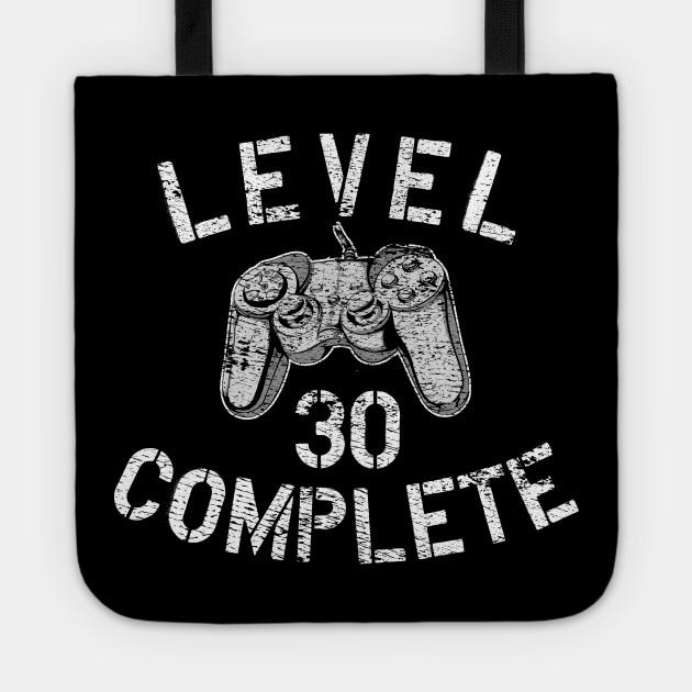Level 30 Complete Video Gamer 30th Birthday T Shirt Gift Gamer