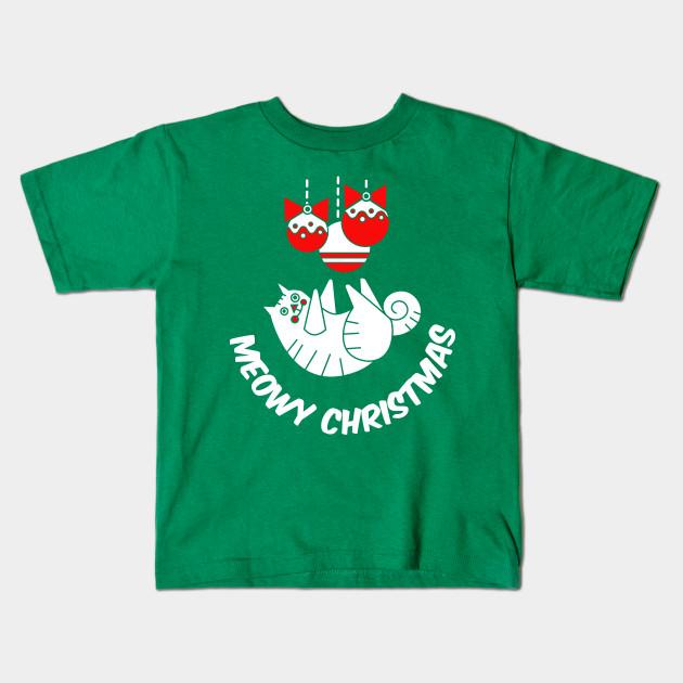 5b09b58ed Meowy Christmas T-Shirt Cat Lover Kitten Holiday Party Funny Gift Tee Tshirt  Kids T-Shirt