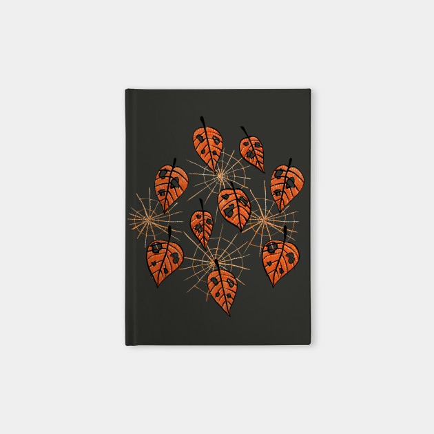 Autumn Leaves With Holes And Spiderwebs