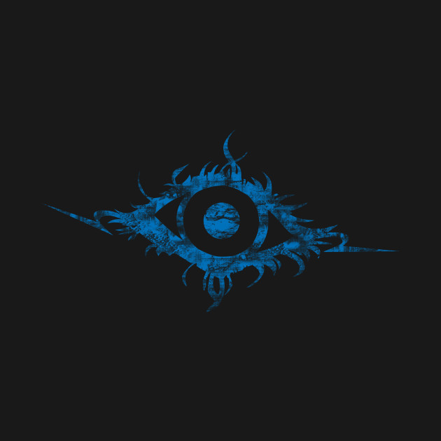 Art is in the EYE of the beholder (blue)