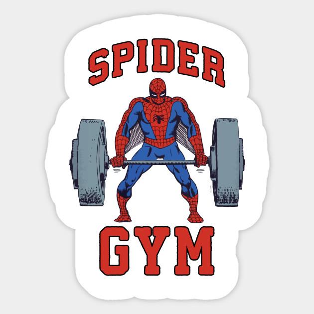 Spider Gym - Spider Man Gym - Spider Man - Sticker | TeePublic