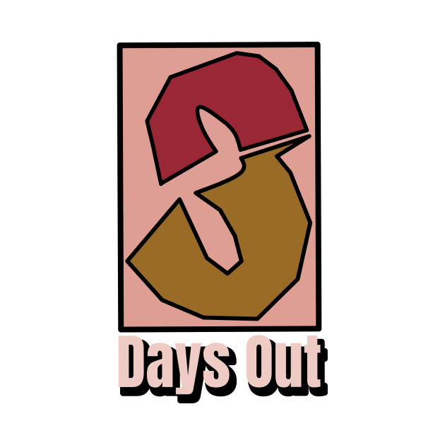 3 DAYS OUT LOGO tshirt