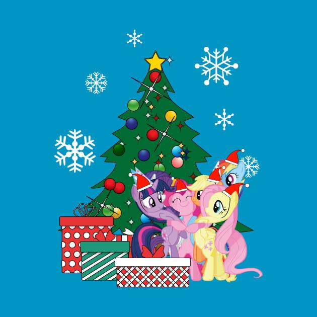 My Little Pony Christmas.My Little Pony Around The Christmas Tree