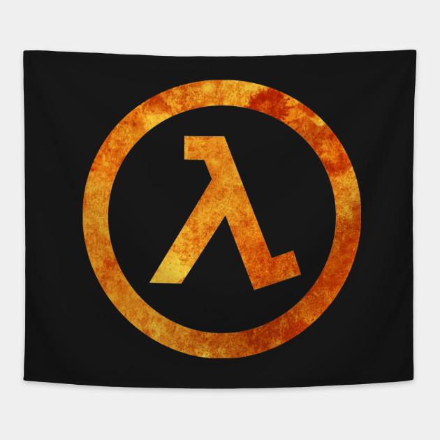 Lambda Symbol Half Life Tapestry Teepublic