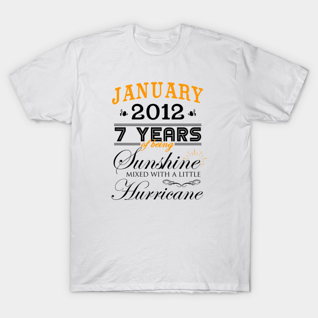 7th Wedding Anniversary.January 2012 Shirt 7th Wedding Anniversary 7 Years Of Marriage