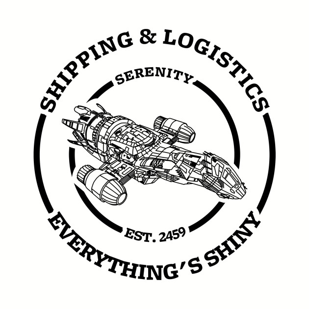 Serenity shipping and logistics (dark design)