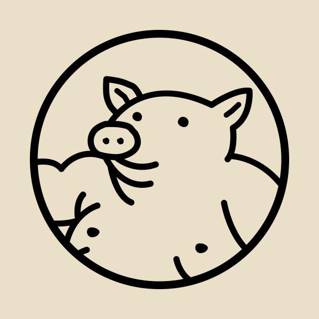 Yabaton pig logo (black)
