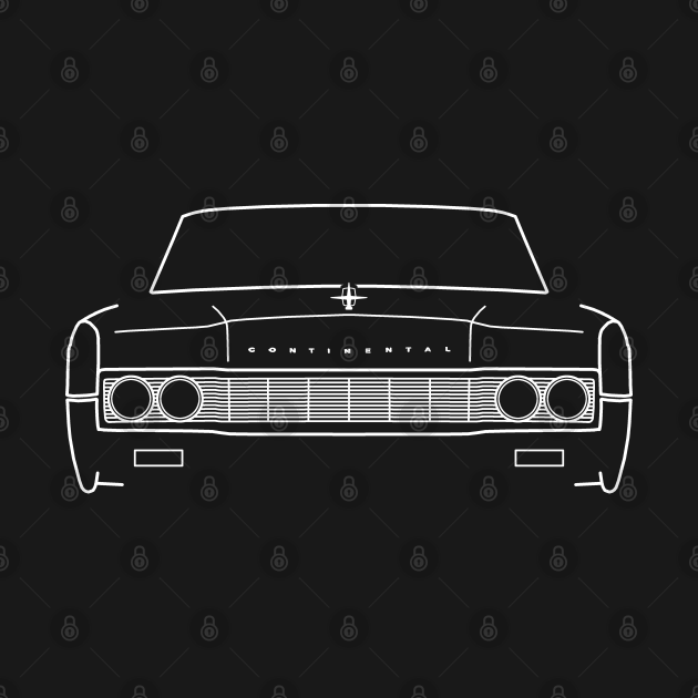 1967 vintage Lincoln Continental outline graphic (white)