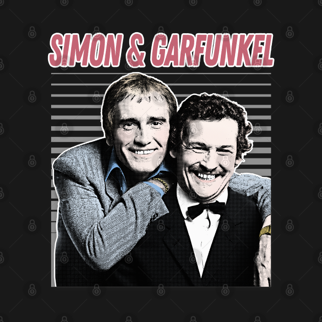 Simon & Garfunkel / Retro Aesthetic Meme British Humour Parody Design
