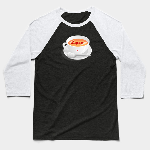 Japan in a cup of coffee Baseball T-Shirt