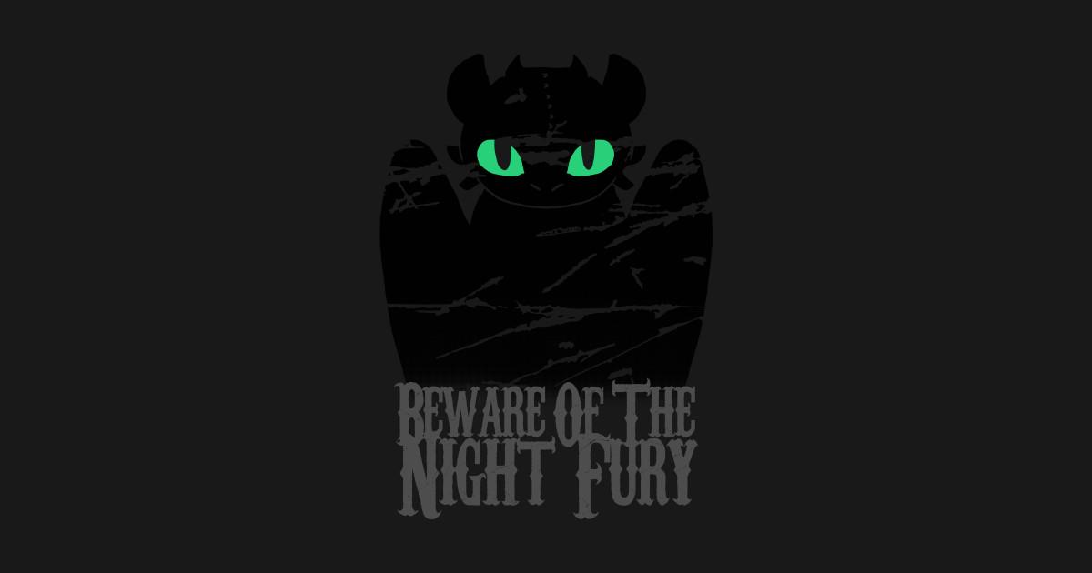 22c08e28 Beware of the night fury T-Shirt