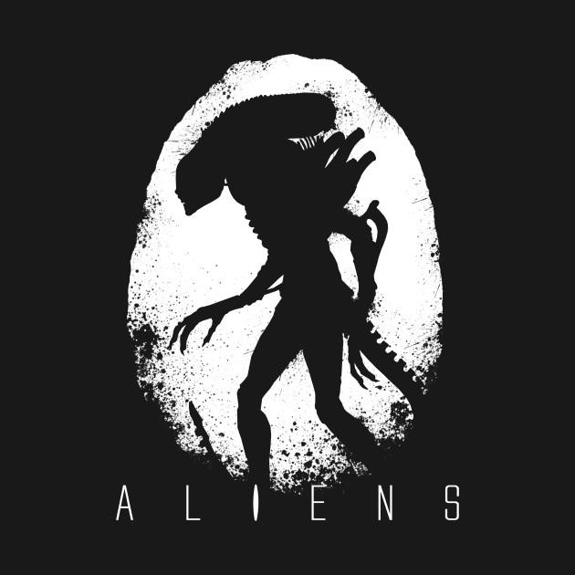 Aliens Egg Silhouette