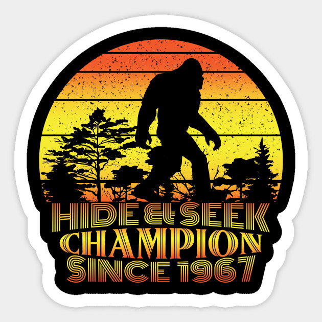 bb67f10c5 Hide And Seek World Champion Tshirt, Bigfoot Shirt, Sasquatch, Funny Bigfoot  Shirt, Gift For Him, Gift For Her,Cryptid Tee,cryptozoology tee Sticker