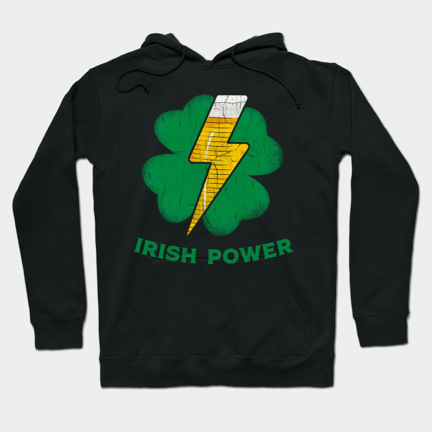 Irish Shamrock Power Funny St.Patrick's Day Beer Drinking Hoodie