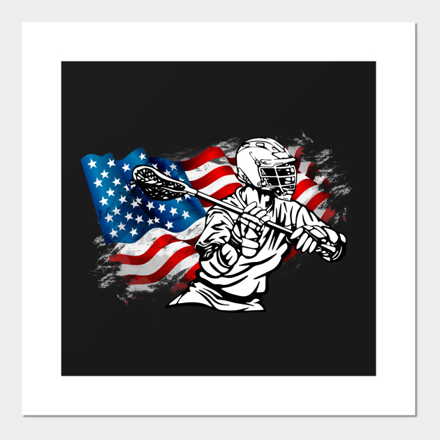 lacrosse patriotic american flag awesome sports gift lacrosse