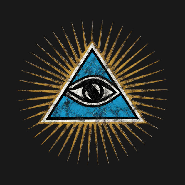 Vintage All Seeing Eye Of Providence Illuminati Pyramid God