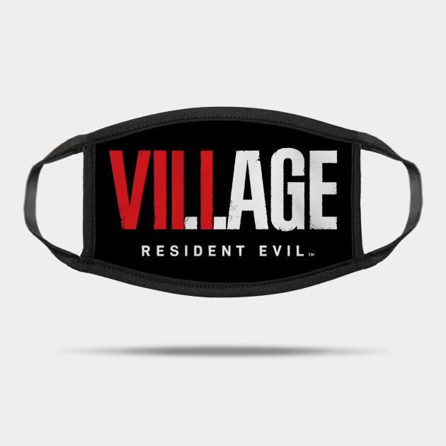 Resident Evil 8 Village Text Logo Resident Evil Village Mask