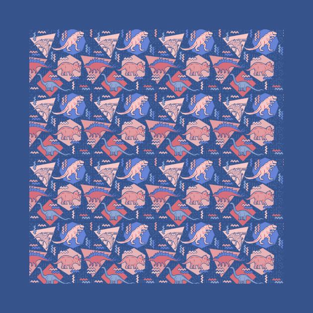 Nineties Dinosaurs Pattern Serenity Rose Quartz Version