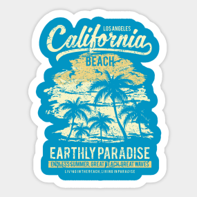 California Beach Stickers Teepublic