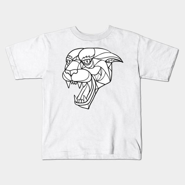 Lion Head Mosaic Premium Youth Sweatshirt Hoodie