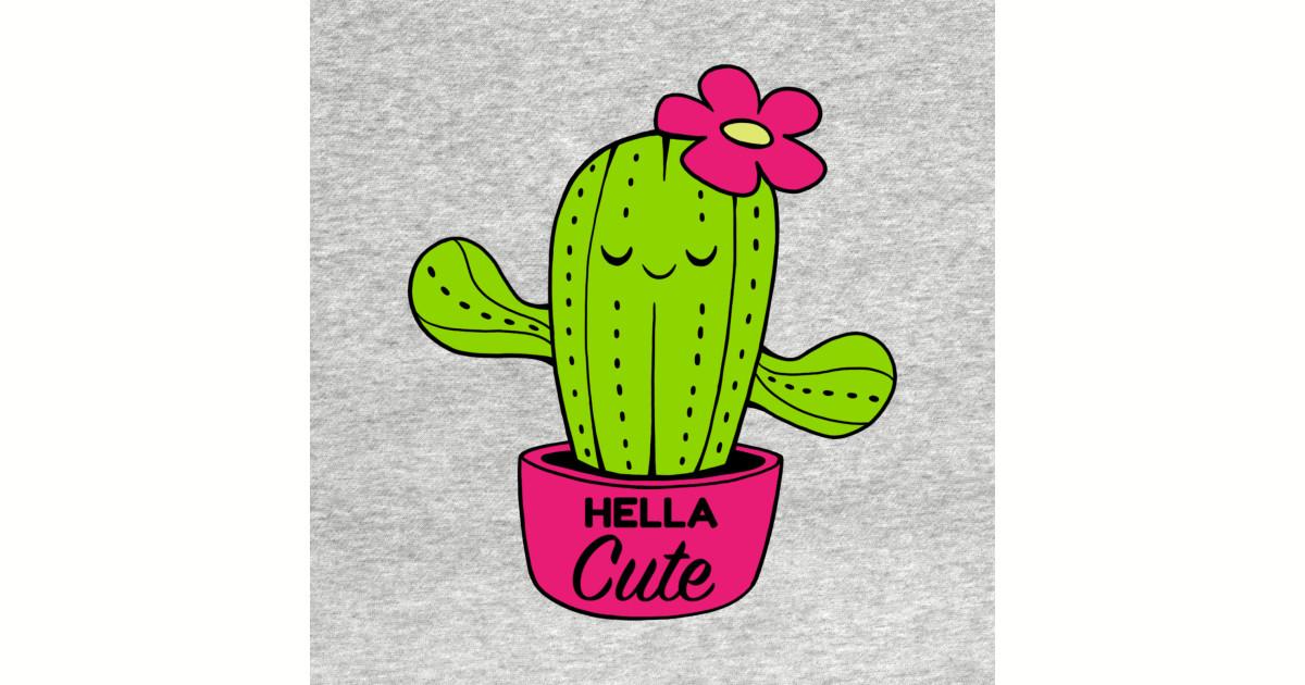Hella Cute Cactus Cactus Sticker Teepublic