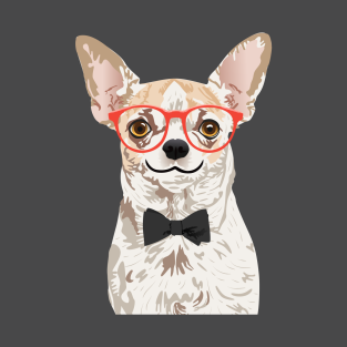 d26f20bc412e Hipster Chihuahua T-Shirt T-Shirt