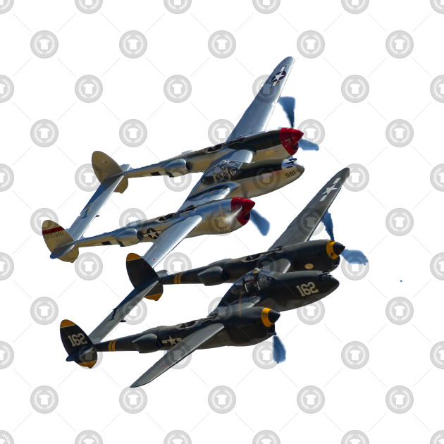 P-38s Formation No Background